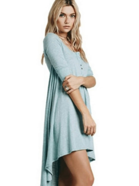 Bohemian High Low Loose Fitting Dress