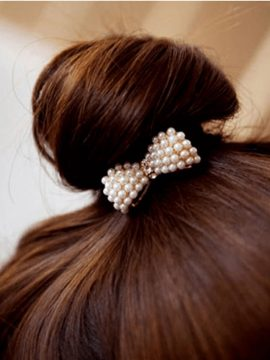 Bowknot Hair Wrap Pearl Hair Accessories