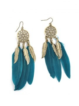 Feather Earrings Ethnic Bohemian Jewelry