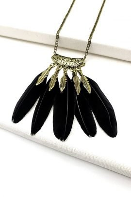Feather Necklace Bohemian Ethnic Jewelry