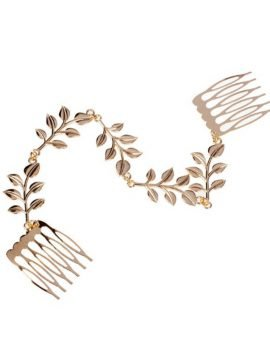 Hair Comb Accessories Metal Leaves Chain 1