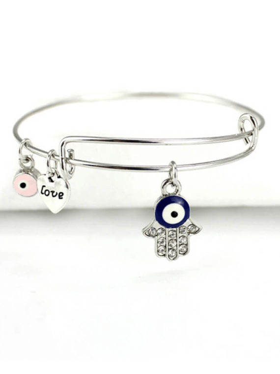 Hand Of Hamsa Charm Bangle Bracelet
