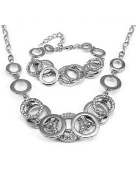 Multi Circle Necklace Bracelet Set 1