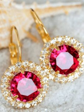 Austrian Crystal Earrings Elegant Style Drops