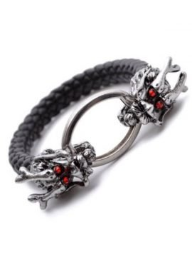 Dragon Bracelet Leather Woven Chain