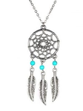 Dream Catcher Necklace Silver Tone Pendant
