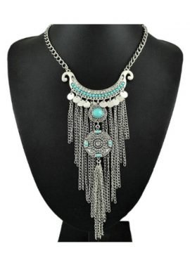 Ethnic Tassel Necklace Bohemian Jewelry