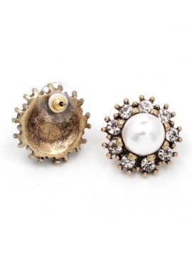 Floral Pearl Earrings Vintage Jewelry