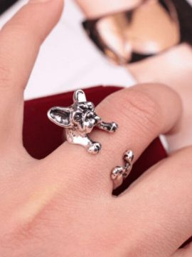 French Bulldog Wrap Ring Adjustable