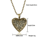 Glow In The Dark Pendant Heart Necklace
