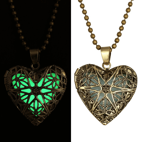 Glow Pendants Romantic Heart Necklace