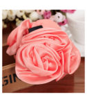 Hair Claw Clips Ribbon Rose Hairstyle