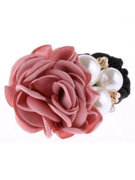Hair Tie Faux Pearl Flower Hair Decor