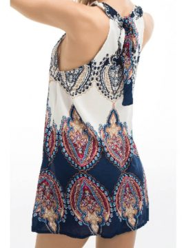 Halter Summer Dress Mini Self Tie Neck