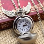 Harry Potter Golden Snitch Pocket Watch Necklace