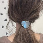 Heart Hair Ties Silver Tone Metal Hairwear