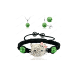 Hello Kitty Shamballa Bracelet Necklace Set