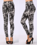 High Waist Leggings Geometric Pattern