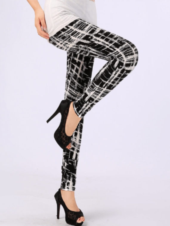 High Waist Leggings Geometric Pattern 2