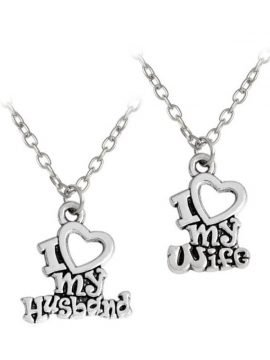I Love My Wife Husband Necklace Pendant