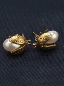 Ladybug Stud Earrings Cute Vintage Style