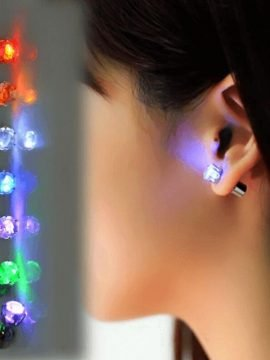 Led Earrings 1 Pair Eye Catching Design