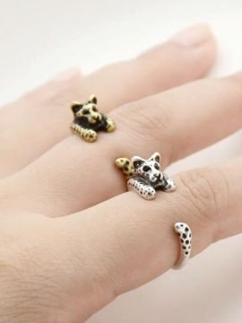Leopard Wrap Around Ring Adjustable