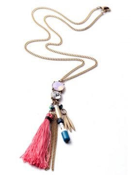 Long Tassel Necklace Boho Style Pendant