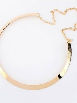 Metal Collar Necklace Gold Silver Tone