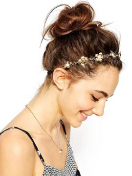 Metal Headbands Romantic Floral Head Wrap