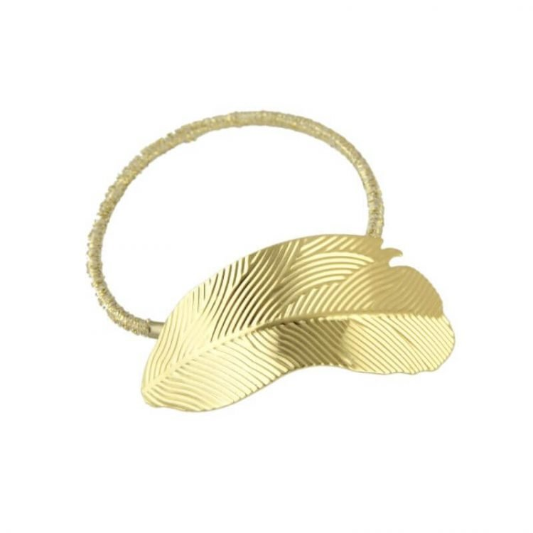 Metal Ponytail Holder Cute Leaf Hair Ties