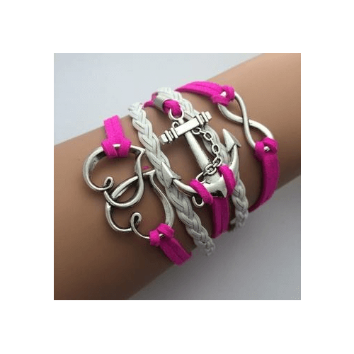 Multilayer Leather Charm Bracelets Wrap Design