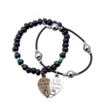 Puzzle Charm Bracelet Lovers Heart Design