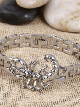 Scorpion Charm Bracelet Stainless Steel