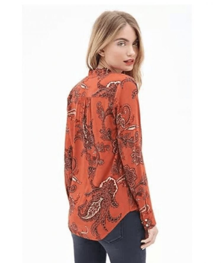 Sexy Long Sleeve Wrap Front Blouse
