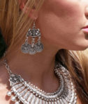 Silver Coin Earrings Bohemian Ethnic Jewelry
