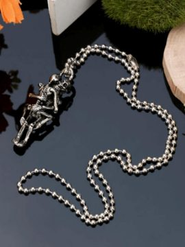 Skeleton Hug Necklace Infinity Love Couple