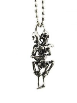 Skeleton Hug Necklace Infinity Love Couple 2