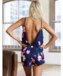 Spaghetti Strap Romper Sexy Backless V Neck