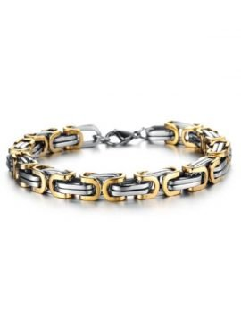 Square Byzantine Bracelet Gold Plated 1