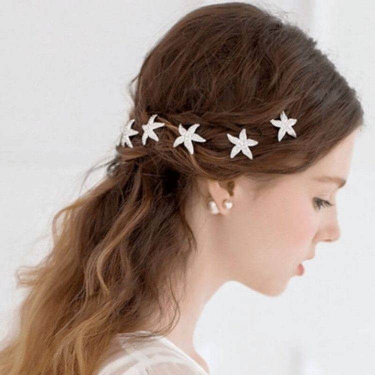 Starfish Hair Pins Bridal Prom Hair Jewelry