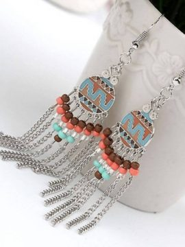 Tassel Earrings Cute Geometric Design
