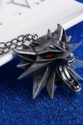 The Witcher 3 Wild Hunt Wolf Head Necklace