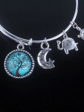 Tree Of Life Bangle Three Cute Charms