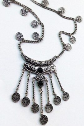 Tribal Coin Necklace Vintage Inspired