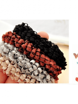 Woven Elastic Hair Ties Ponytail Holders