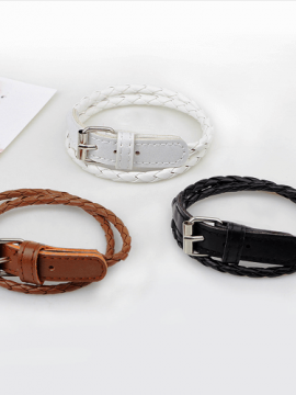 Woven Leather Bracelet Belt Buckle Design