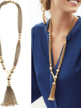 Y Necklace Multi Chain Tassel Design