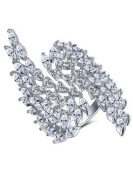 Angel Wings Ring Cubic Zirconia Gold Plated
