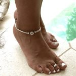 Beaded Ankle Bracelet Adjustable Cord Design